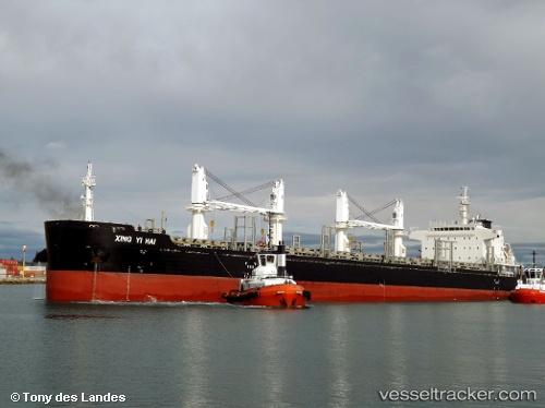 Xing Yi Hai Type Of Ship Cargo Ship Callsign VRPB - Xingyi map