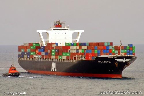Cargo Ship APL Latvia IMO 9532800 by jojek