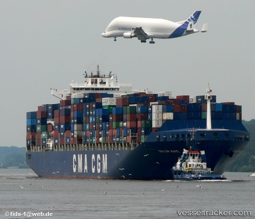 Cargo Ship CMA CGM Ravel IMO 9221839 by Fids