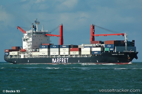 Cargo Ship Marfret Guyane IMO 9362334 by Becks93