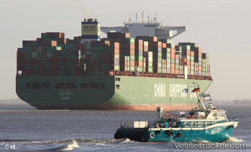 Cargo Ship CSCL Venus IMO 9467251 by Lukalucy